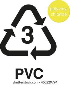 PVC polyvinyl chloride recycling code