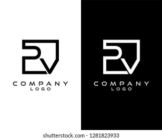 pv/vp Letters Logo Design. Simple and Creative Letter Concept Illustration vector