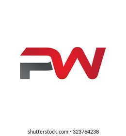 PW company linked letter logo
