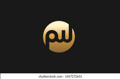 PW Letter Logo Design Template Vector