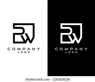 pw/wp Letters Logo Design. Simple and Creative Letter Concept Illustration vector