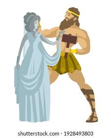 Pygmalion and galatea living statue mythology greek myth