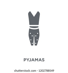 pyjamas icon. pyjamas design concept from Pyjamas collection. Simple element vector illustration on white background.
