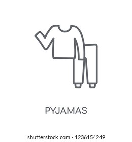 pyjamas linear icon. Modern outline pyjamas logo concept on white background from Clothes collection. Suitable for use on web apps, mobile apps and print media.
