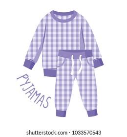Pyjamas paper vector illustration