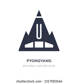 pyongyang icon on white background. Simple element illustration from Monuments concept. pyongyang icon symbol design.