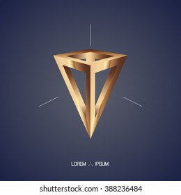 Pyramid abstract background. Vector illustration