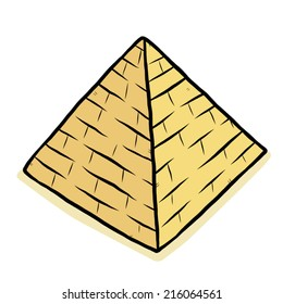 pyramid / cartoon vector and illustration, hand drawn style, isolated on white background.
