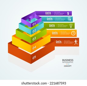 Pyramid chart for infographics design or web template