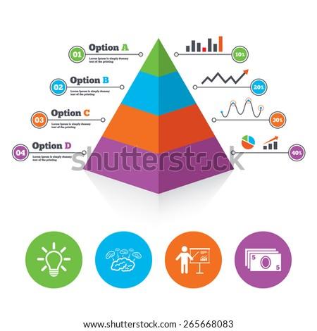pyramid chart template presentation billboard brainstorm stock
