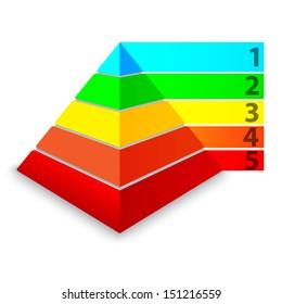 Pyramid chart. Vector