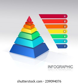 Pyramid chart. Vector. for infographics and presentations