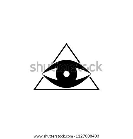 Pyramid Eye Icon Element Tattoo Icon Stock Vector Royalty Free