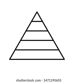 pyramid icon. finance pyramide sign.