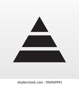 Pyramid icon vector. Simple finance pyramide symbol. Trendy flat ui sign design. Thin linear graphic pictogram for web site, mobile application. Logo illustration.