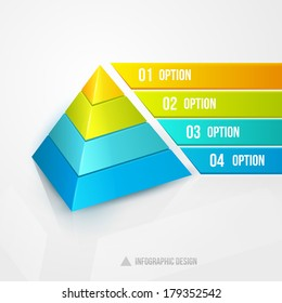 pyramid infographic design template vector illustration isolated on white