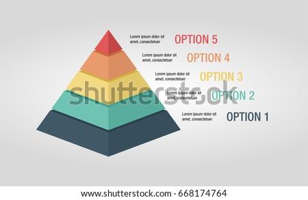 pyramid infographic marketing presentation stock vector royalty