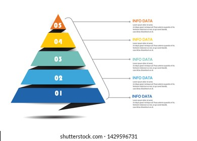 pyramid infographics for presentation education vector design illustration eps.10