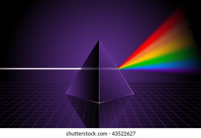 Pyramid with Rainbow Original Vector Illustration Rainbow Background Ideal for Gay Concept