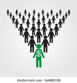 a pyramid scheme,one in a million