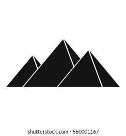 Pyramids in Giza icon. Simple illustration of pyramids in Giza vector icon for web