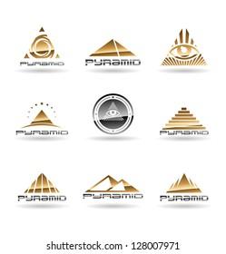 Pyramids. Pyramid With Eye. Vol 1.