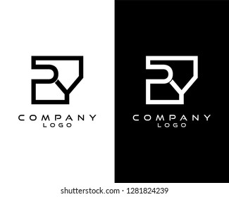 py/yp Letters Logo Design. Simple and Creative Letter Concept Illustration vector