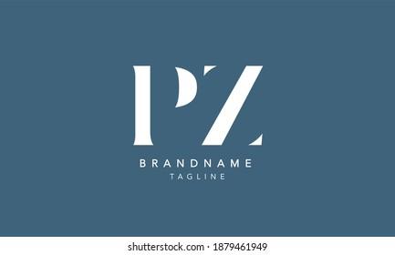 PZ Alphabet initial Letter Monogram Icon Logo vector illustration