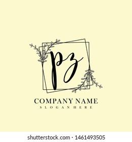 PZ Initial beauty floral logo template