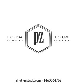 PZ Initial beauty monogram logo vector