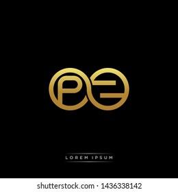 PZ initial letter linked circle capital monogram logo modern template