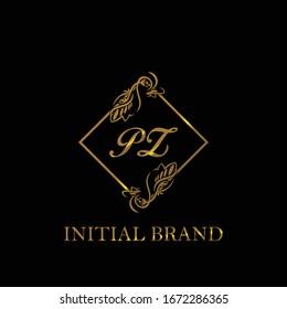 PZ Initial wedding logo template vector