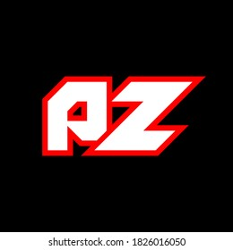PZ logo design, initial PZ letter design with sci-fi style. PZ logo for game, esport, Technology, Digital, Community or Business. P Z sport modern Italic alphabet font. Typography urban style fonts.