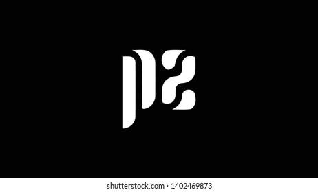 PZ logo design template vector illustration minimal design