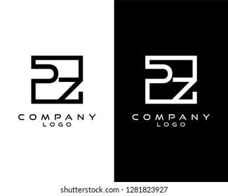 pz/zp Letters Logo Design. Simple and Creative Letter Concept Illustration vector