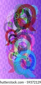 Q Alphabet art pattern