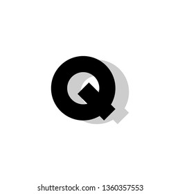 Q Font logo. Modern design vector font for title, header, lettering. Corporate Vector abc technology typeface.