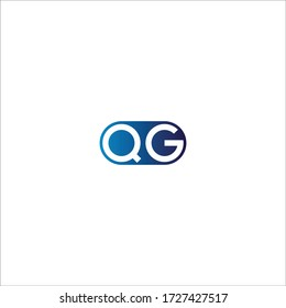 Q G initial letter linked circle capital monogram logo modern template silver color edition