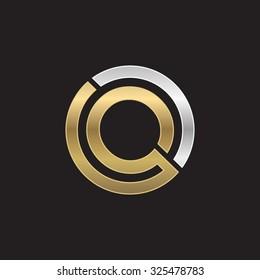 Q initial circle company or QO OQ logo black background