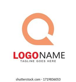 Q Letter Logo design & illustration vector art
