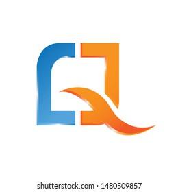Q letter logo design vector illustration template, Technology logo vector, creative Letter Q letter logo