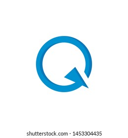 Q letter logo template vector icon