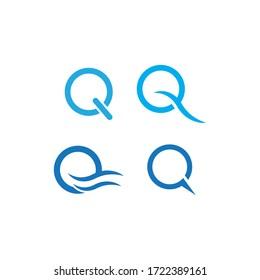 Q letter logo template vector design