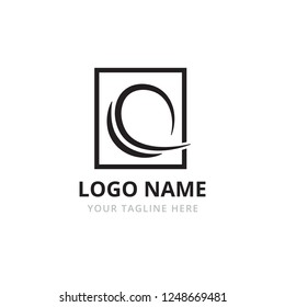 Q letter logo vector template. Abstract elegant logo of letter Q or O. O letter logo. Fashion logo.