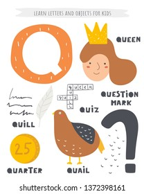 Words That Have The Letter Q.Q For Quail Photos 442 Q For Stock Image Results
