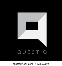 Q Letter question speech bubble logo