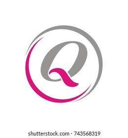Q logo initial letter design template vector