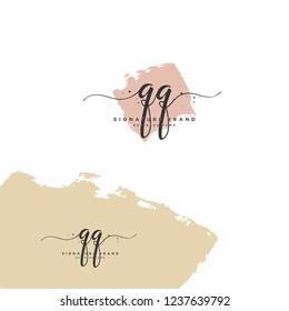 Q Q QQ Initial letter handwriting and  signature logo.