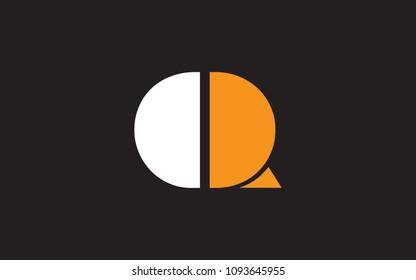 Q QQ Letter Initial Logo Design Template