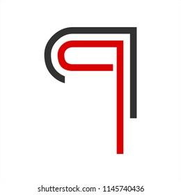 q, qq, qn, qr initials geometric line art company logo